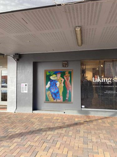 Ladies Day, painting by Jan Evans at Taking Shape, Nelson